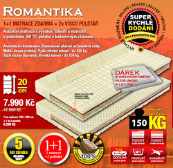 matrace Tropico Romantika 1+1 90x200 - 1